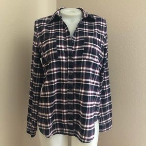 Tops - Plaid Button Front Top